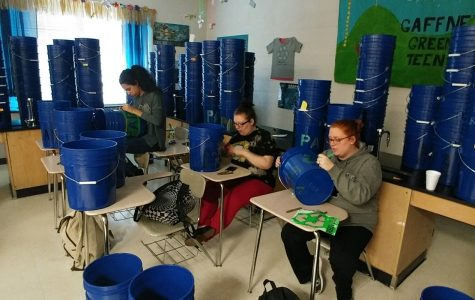 New recycling buckets at GHS