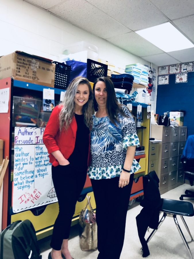 Alli featured with the teacher she did her field experience with