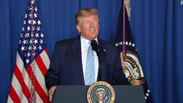 President+Donald+Trump+speaking+about+the+attack