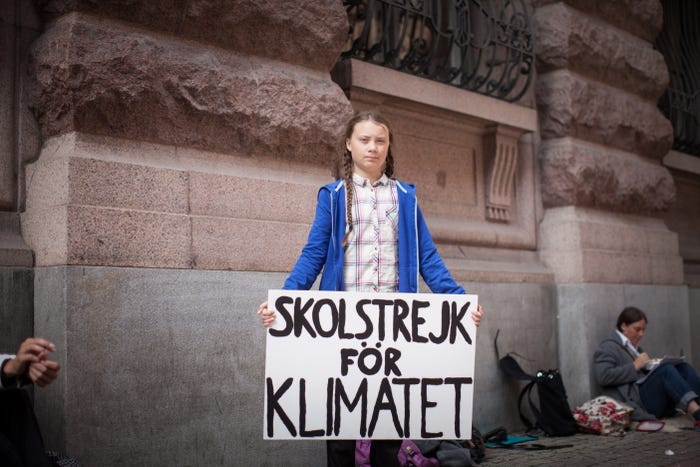 This+is+Greta+Thunberg+standing+in+front+of+Parliment+with+a+sign+that+translates+to+%22School+Strike+for+Climate%22