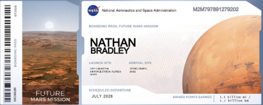 Send your name to Mars via NASA!