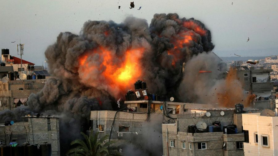 US President Joe Biden has voiced his support for a ceasefire after eight days of violence between Israel and Palestinian militants in Gaza.